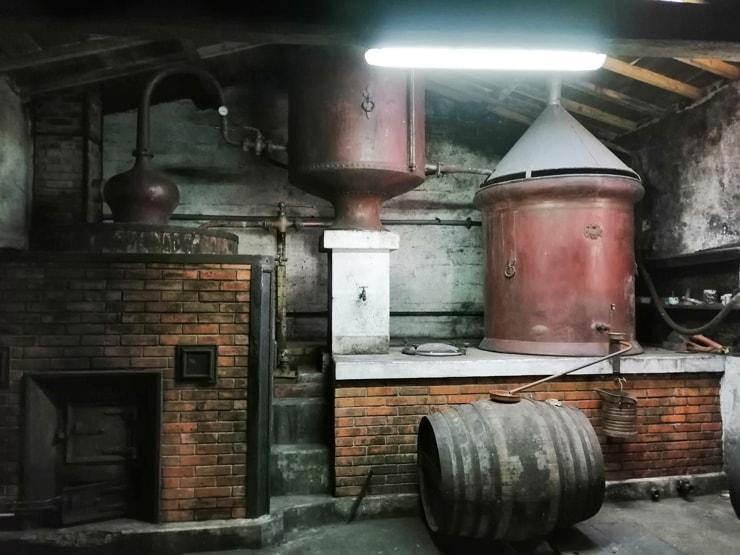 コニャックの蒸留器
